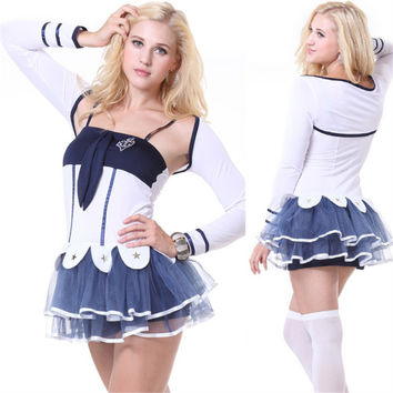 White Lace Skirt Games Uniform Cosplay Anime Cosplay Apparel Holloween Costume [9211524804]