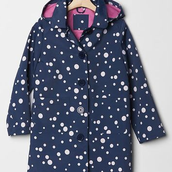 Gap Girls Dot Hooded Mac Jacket