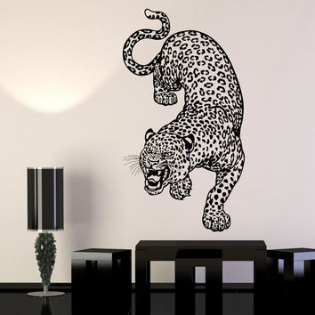 Vinyl Wall Decal Leopard Predator Animal Big Cat Zoo Stickers Unique Gift (1146ig)
