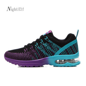 Night Elf running shoes for women sport shoes woman spring summer flywire barefoot shoes breathable 2017 air mesh sneakers women