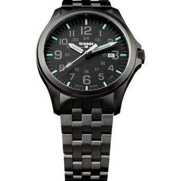 P67 Officer Pro Gunmetal Black 107868 Men'S Swiss Watch Pvd Coated Steel