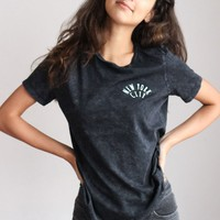 New York City Relaxed Tee - Acid Wash Black