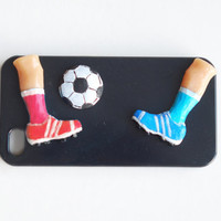 Football sneakers hard case .iPhone 4  hard case .Unusual phone case. Active summer sport for him  case