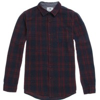 On The Byas Sal Multi Plaid Long Sleeve Woven Shirt - Mens Shirt - Blue