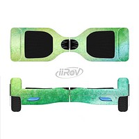 The Vibrant Green Watercolor Panel Full-Body Skin Set for the Smart Drifting SuperCharged iiRov HoverBoard
