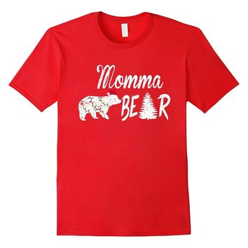 Polar Momma Bear Ugly Christmas Hat Light Pajamas Tshirt
