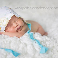 Newborn Floral Fabric Bonnet - More Colors Available