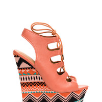 Higher Ground Lace-Up Wedges