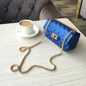 Beautiful chain purse / Blue
