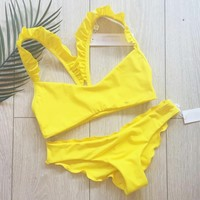 New Arrival Sexy Swimsuit Summer Hot Beach Ruffle Swimwear Bikini [520204320783]