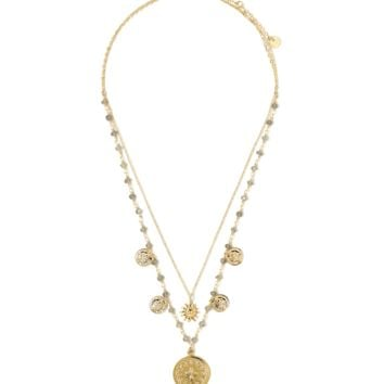 Mia Beaded Chain Duo Necklace