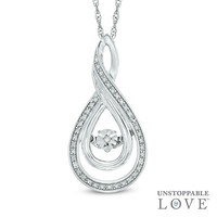 Unstoppable Love™ Diamond Accent Layered Infinity Pendant in Sterling Silver - View All Necklaces - Zales