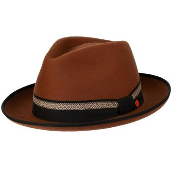 Levin Brushed Short Hair Fedora by Mayser