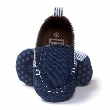 2017 Fashion Brand Romirus Leisure Newborn Baby Shoes Boy Kids First Walkers Soft Bottom Anti-slip Shoes Infant Crib Loafer