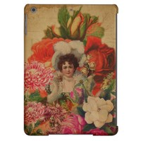 Grunge Vintage Woman Flower Collage Case For iPad Air