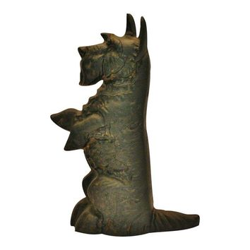 Pre-owned Vintage Cast Iron Scotty Dog Doorstop