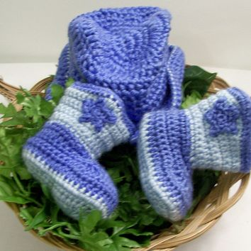Baby Boy Cowboy Set--Western Hat and Boots -Gift Set---Baby Shower Gift-PLEASE CHOOSE SIZE