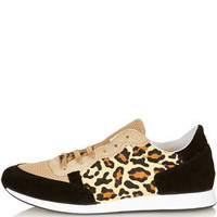 TRUFFLE Leopard Runners - Hi Tops & Trainers - Flats  - Shoes