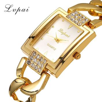 Lvpai Fashion Brand Women Watch Rhinestone Gold Full Steel Quartz Wristwatch Women Dress Gift Luxury Fashion Lady Watches XR1101