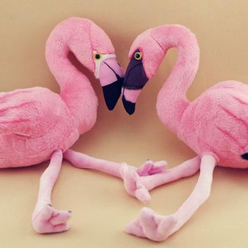Simulation Animal Flamingo Bird Pink Cute Kawaii Soft Stuff Plush Toy Doll Girl Birthday Gift Home Decoration