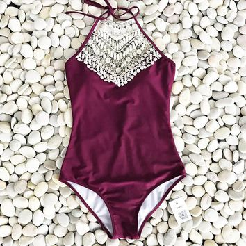 Crochet Summer Beach Swimsuit Ladies Bikini Set