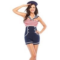 Coquette Women's Pin Up Sailor Adult Costume