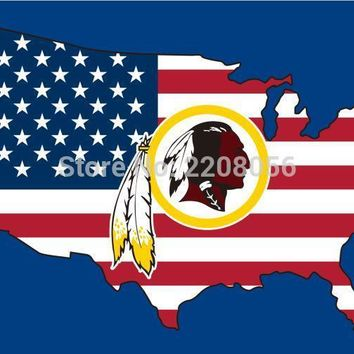 New style 3x5FT Washington Redskins flag with American banner flag 100D Polyester NFL flag hot sell Washington Redskins flag