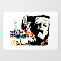 The Evil of Frankenstein * Vintage Movies Inspiration Art Print by Freak Shop