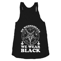 On Wednesdays We Wear Black - Mean Girls Shirt, American Horror Story Shirt, Satanic Clothing, Witchcraft, American Apparel