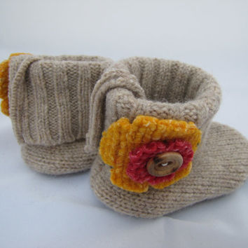 Baby Shoes, Boots, Booties, Slippers-Wool Sweater Boots-Soft and Cozy