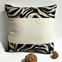 Onitiva Moon River Linen Stylish Patch Work Pillow Cushion Floor Cushion in 19.7 by 19.7 inches
