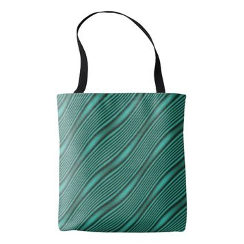 Teal Waves Tote Bag