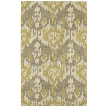 Hand-tufted Manhattan Yellow Ikat Rug (5' x 7'6) - Free Shipping Today - Overstock.com - 15666474 - Mobile