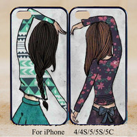 Best Friend ,Double Cases,iPhone 5s Case iPhone 5c case iPhone 5 case, iPhone 4 Cases iPhone 4s Cases,Samsung Galaxy S3,S4,Couple Csae