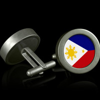 Philippines Flag Cufflinks by AustinCreations on Etsy