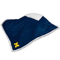Michigan Wolverines NCAA  Soft Plush Sherpa Throw Blanket (50in x 60in)