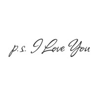wall quotes wall decals - P.S. I Love You Vinyl
