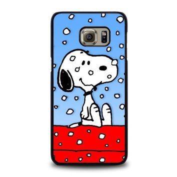 snoopy dog christmas samsung galaxy s6 edge plus case cover  number 1