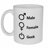 Male Female Geek New Gender Coffee or Tea Mug
