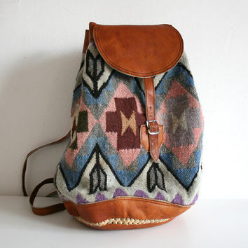 Pastel Navajo Woven Backpack
