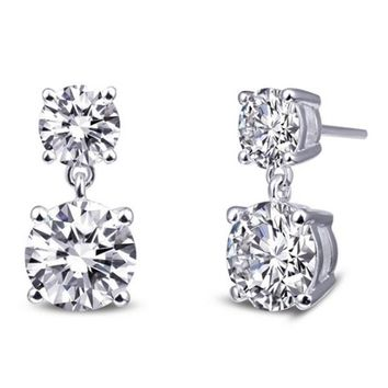 Lafonn Simulated Diamond Round Solitaire Dangle Earrings