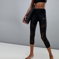 Puma Dance Mesh Panel Capri Leggings at asos.com
