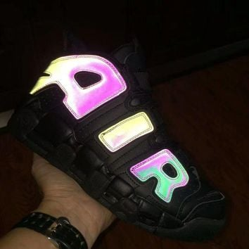 "Nike Air More Up Tempo  ""Chameleon"" Black Sneakers"