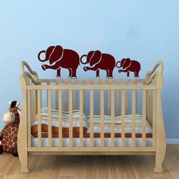 Mom and Baby Elephant Animal Wall Vinyl Decal Sticker Children Boy Girl Kids Baby Room Nursery Design Interior Decor Bedroom SV4543