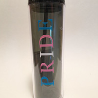 Transgender Pride Tall Tumbler Blue Pink White Pride Travel Cup