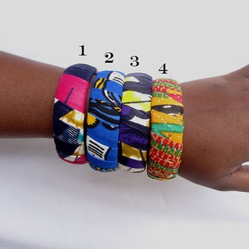 African print bangle - colors of your choice