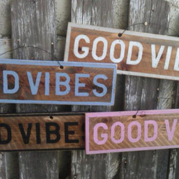 NEW Inspirational Sign Wood Art Decor Girls Teens Trendy Fashion Wall art Hanging Good Vibes brandy style