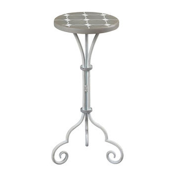 Sterling Industries 51-10135 Ayer-Small Plant Stand In Grey & White Painted Finish