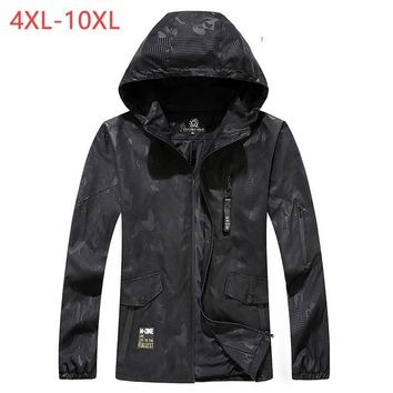 Trendy Male Bomber Baggy Hooded Jacket Spring Summer Zipper Camo Windbreaker Men Black Streetwear Smart Travel Coat 6XL 8XL 2018 XMR05 AT_94_13