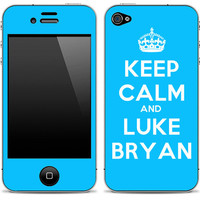 Keep Calm And Luke Bryan iPhone 4/4s Skin FREE SHIPPING